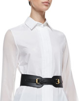 McQ by Alexander McQueen Equestrian Faux Leather Cinch Belt