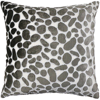 The Piper Collection Lexi 22x22 Pillow - Granite Velvet