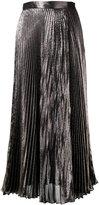 Christopher Kane metallic pleated skirt - women - Silk/Acetate/Polyester - 40