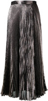 Christopher Kane metallic pleated skirt - women - Silk/Polyester/Acetate - 40