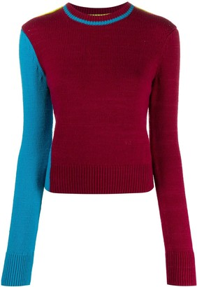 Victoria Beckham Colour Block Knitted Jumper