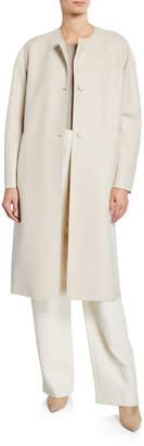 Harris Wharf London Long Oversized Light Wool Coat