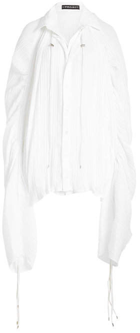 Y/Project Voile Blouse with Drawstring Ties