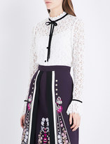 Temperley London Eclipse collared lace top