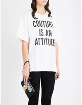Moschino Couture-print Cotton-jersey T-shirt