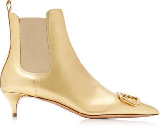 Valentino Garavani Metallic Leather Boots