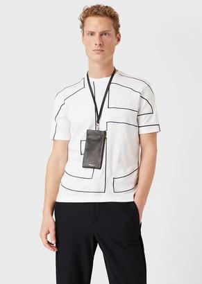 Giorgio Armani Interlock T-Shirt With Oversized Logo