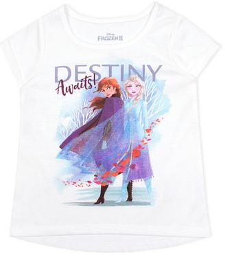 Children's Apparel Network Girls' Tee Shirts OFFWH - Frozen 2 Off-White 'Destiny Awaits' Hi-Low Short-Sleeve Tee - Toddler & Girls