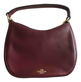 Coach Large Scout Hobo Burgundy Leather Handbags
