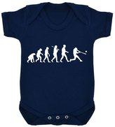 1StopShops Evolution of Baseball Baby Bodysuit Navy with White Print