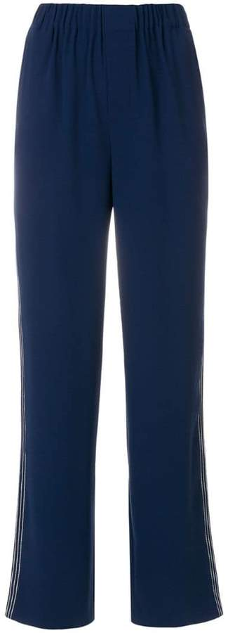 Steffen Schraut side-stripe tailored trousers