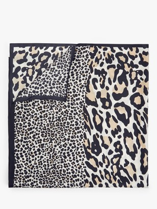 John Lewis & Partners Leopard Print Silk Scarf, Multi
