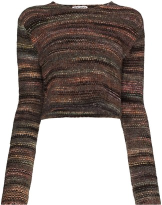 Our Legacy Cropped Fair Isle Knit Jumper