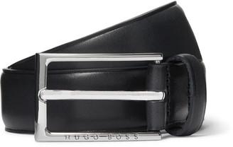 HUGO BOSS 3cm Navy Ceddy Leather Belt