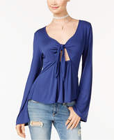 American Rag Juniors' Tie-Front Cutout Top, Only at Macy's