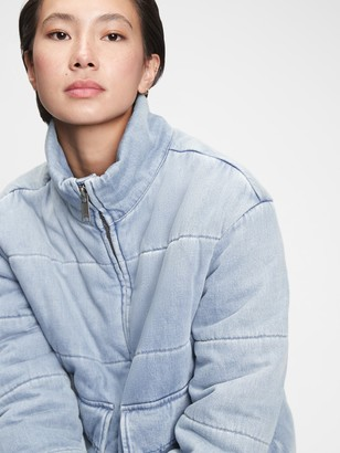 Gap Denim Puffer Jacket