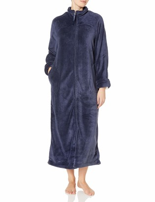 "Casual Moments Women's 52"" Breakaway Zip Front Robe"