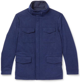 Loro Piana Storm System Reversible Cashmere-Jersey Field Jacket