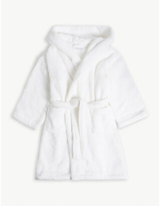 The Little White Company Hooded cotton robe with ears 3-4 years, Size: 4-5 years, White