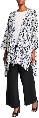eskandar Wide Bound-Neck Shirt with Longer Back