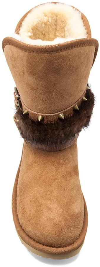 Australia Luxe Collective Hatchet Short Boot with Mink Fur