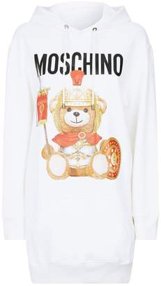 Moschino Roman Teddy Hoodie Dress