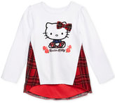 Hello Kitty Graphic-Print Plaid Top, Toddler & Little Girls (2T-6X)