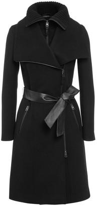 Mackage Nori Double-Collar Wool-Blend Coat