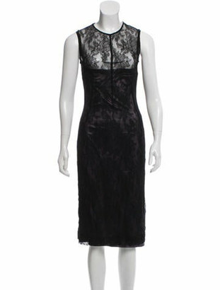 Dolce & Gabbana Silk Ruched Dress Black