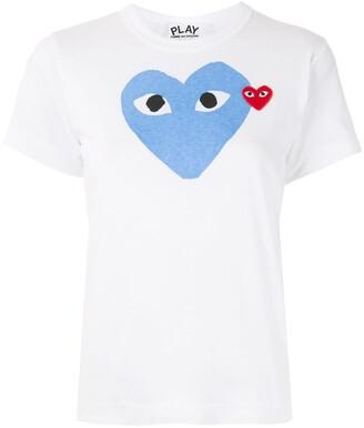 Comme des Garcons logo-patch printed T-shirt