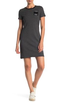 Calvin Klein Short Sleeve Logo T-Shirt Dress