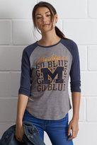 Tailgate Michigan Go Blue Raglan