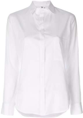 Y's curved hem front pocket shirt