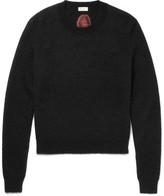 Saint Laurent Intarsia Mohair-blend Sweater - Black