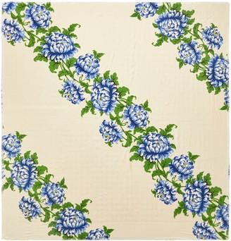 Tory Burch Floral Logo Jacquard Traveler Scarf
