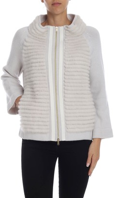 Herno Cardigan With Mink Detail