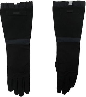 Prada Black Polyester Gloves