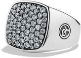 David Yurman Pavé Signet Ring with Gray Sapphires