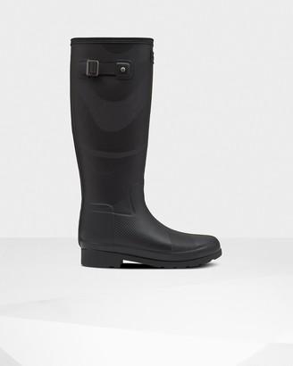 Hunter Women's Original Refined Insulated Wave Texture Tall Rain Boots