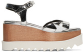 Stella McCartney Silver Platform Star Elyse Sandals