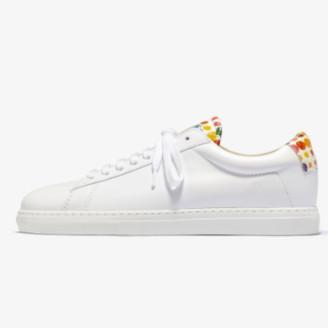 Zespà White ZSP4 Viper Dots Sneakers - 36 | leather | white - White/White