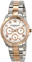 Stuhrling Original Women's 774L.03 Symphony Regal Two-Tone Stainless Steel Watch with Link Bracelet