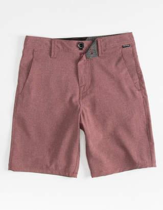 Volcom Frickin Static Boys Burgundy Hybrid Shorts