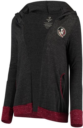 Colosseum Women's Charcoal Florida State Seminoles Steeplechase Open Hooded Tri-Blend Cardigan