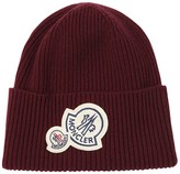 Moncler WOOL & CASHMERE BEANIE W/ DOUBLE PATCH