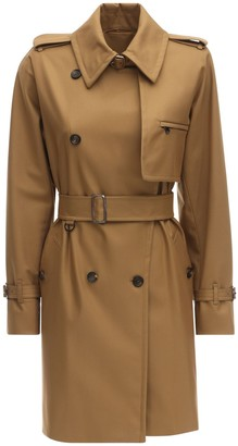 Max Mara Double Breasted Twill Trench Coat