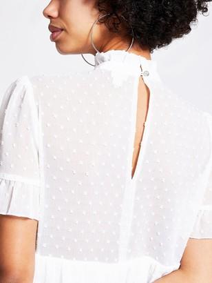 River Island Mini Smock Dress - White