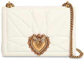 Dolce & Gabbana Large Devotion Quilted Leather Bag