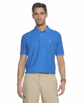 Izod Men's Fit Advantage Performance Short Sleeve Solid Polo