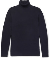 Folk - Waffle-knit Stretch-cotton Rollneck Sweater